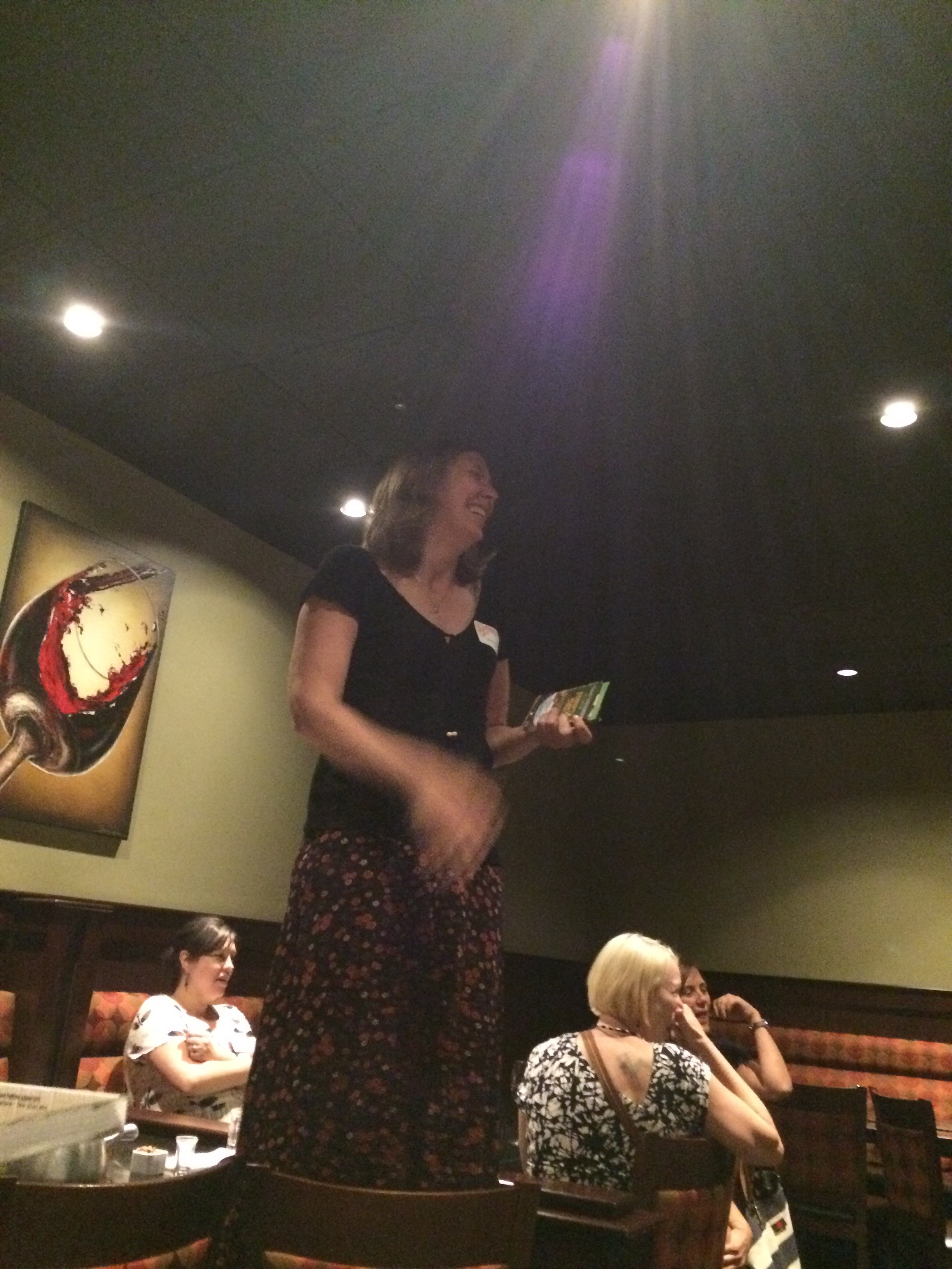 Scheurer making her big announcements at the Melting Pot