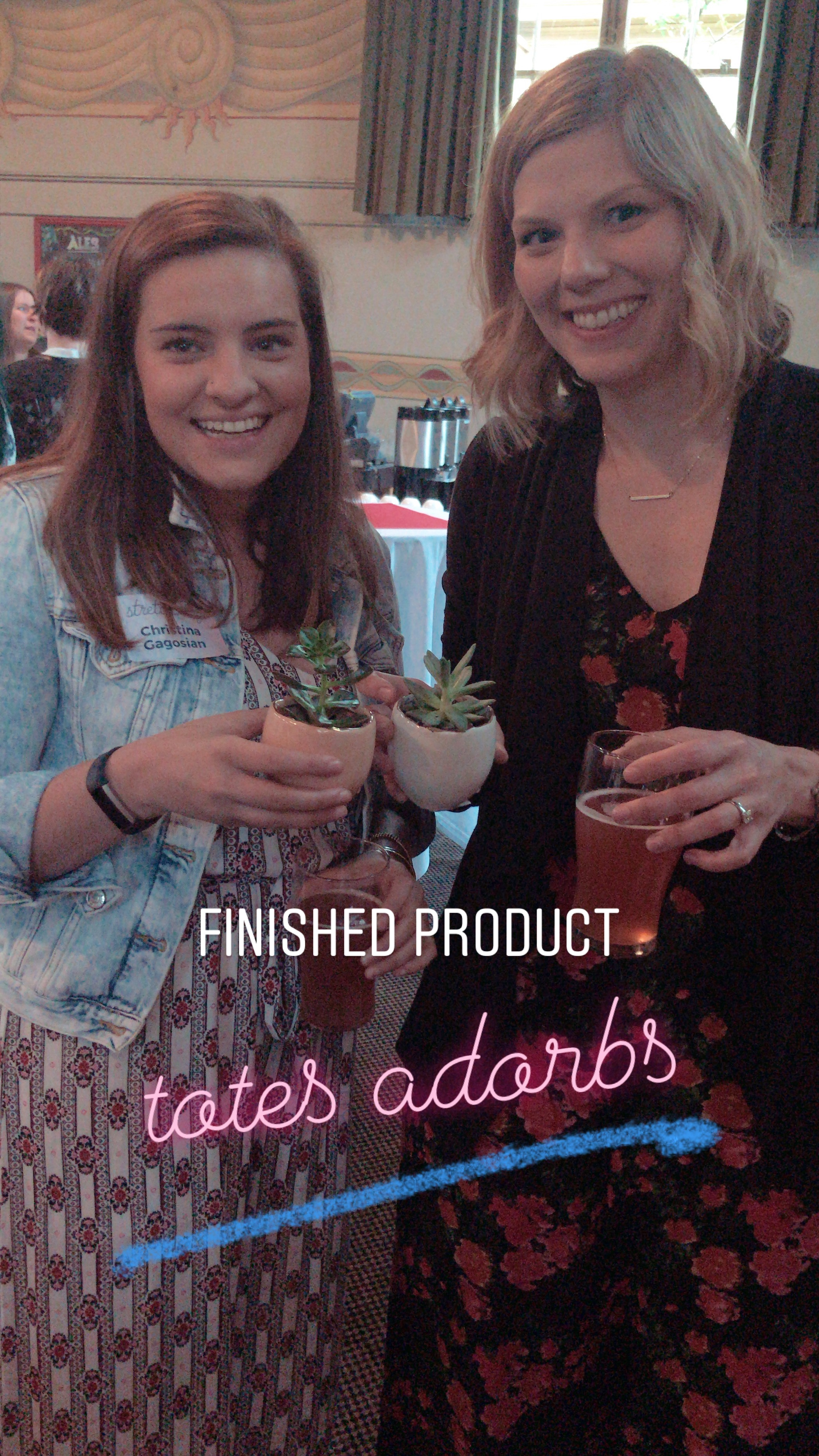 EOY 2018 -  Christina & Sarah finished