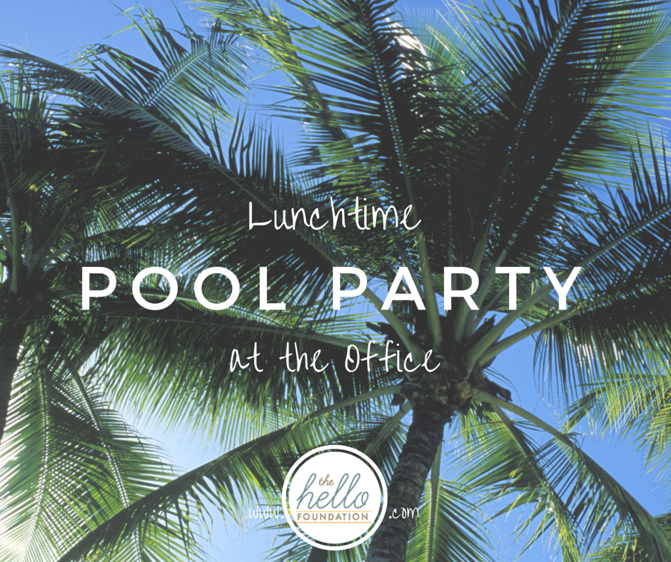 lunchtime office pool party