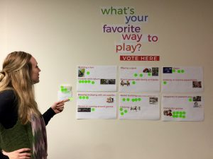 Will Laura pick Imaginary Play or Board Games?
