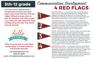 communication development in young adults