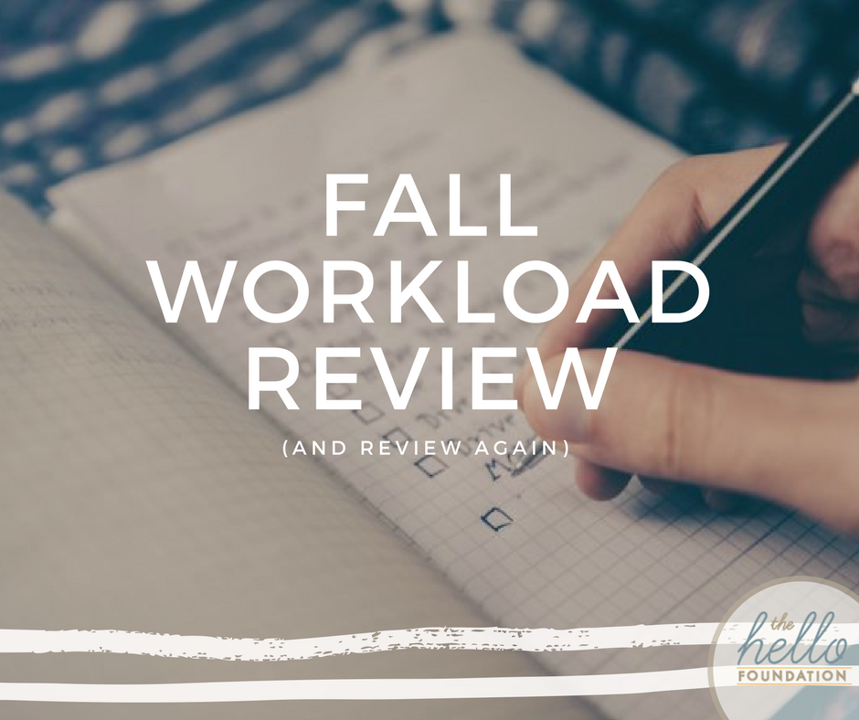 fall workload review