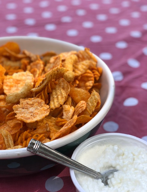 Barbecue Potato Chip Salad