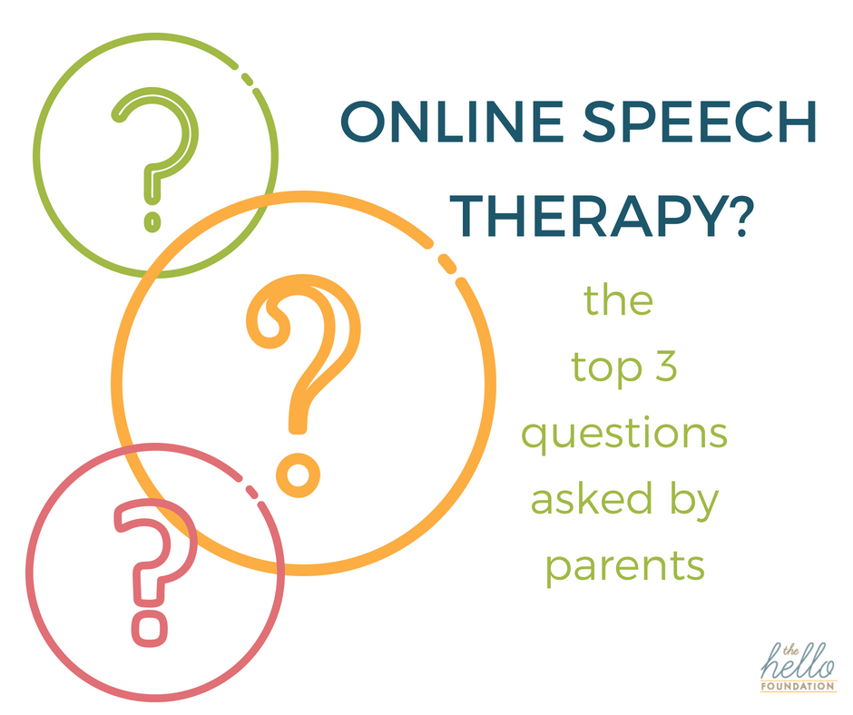 questions about online speech therapy