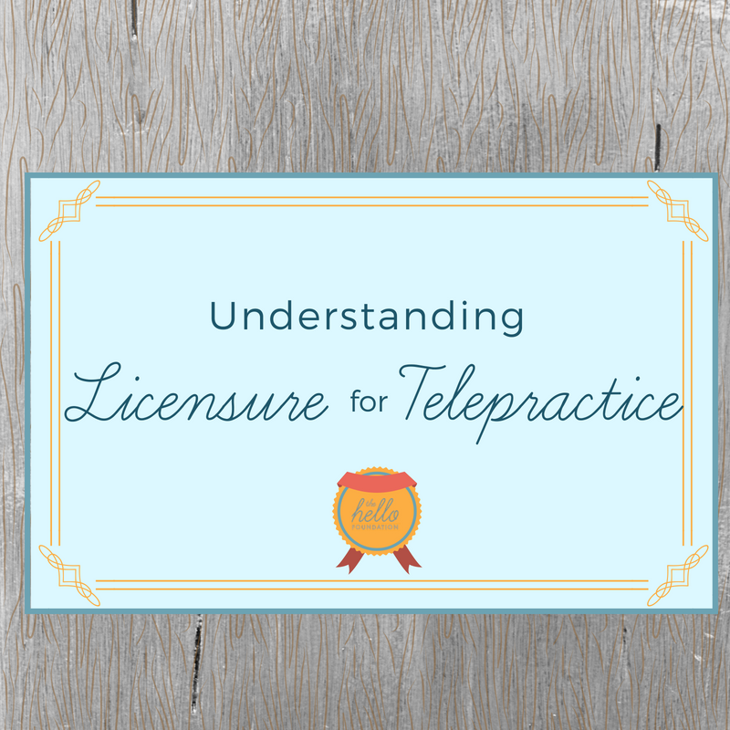 licensure for telepractice