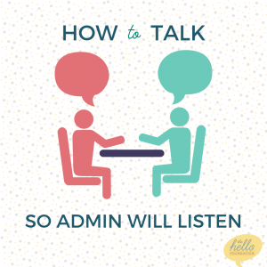 how to talk so admin will listen