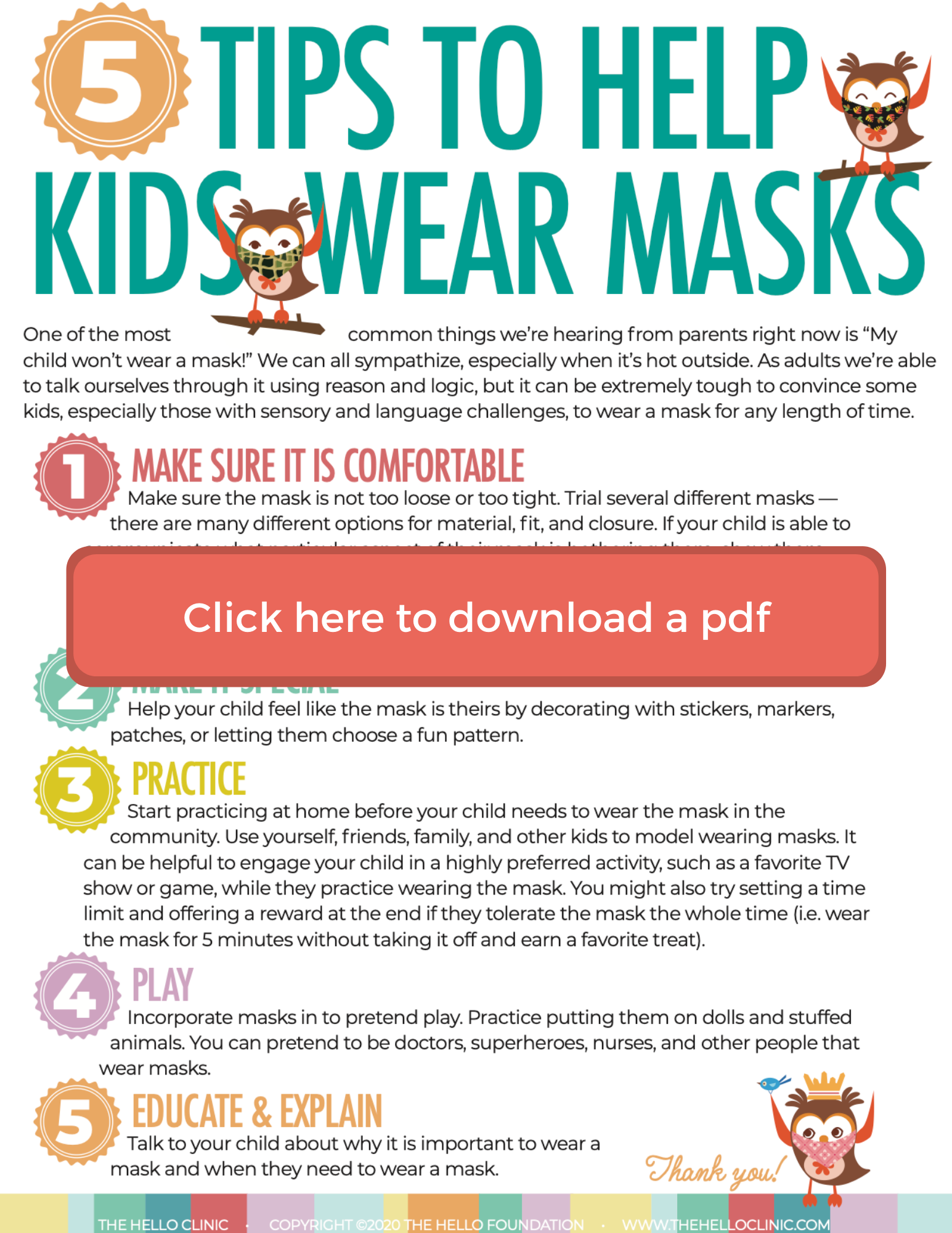 click image to download 5 tips masks pdf