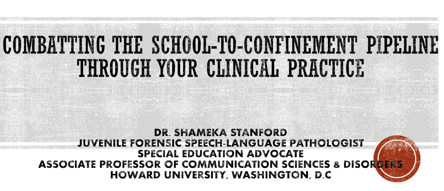 dr shameka stanford combating the school to confinement pipeline through your clinical practice slide