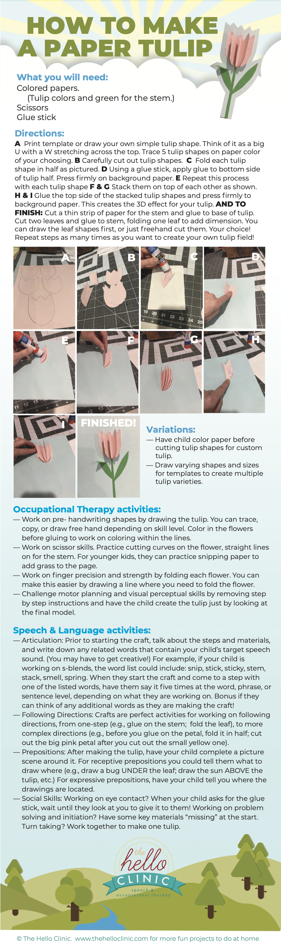 small image of how to make a paper tulip