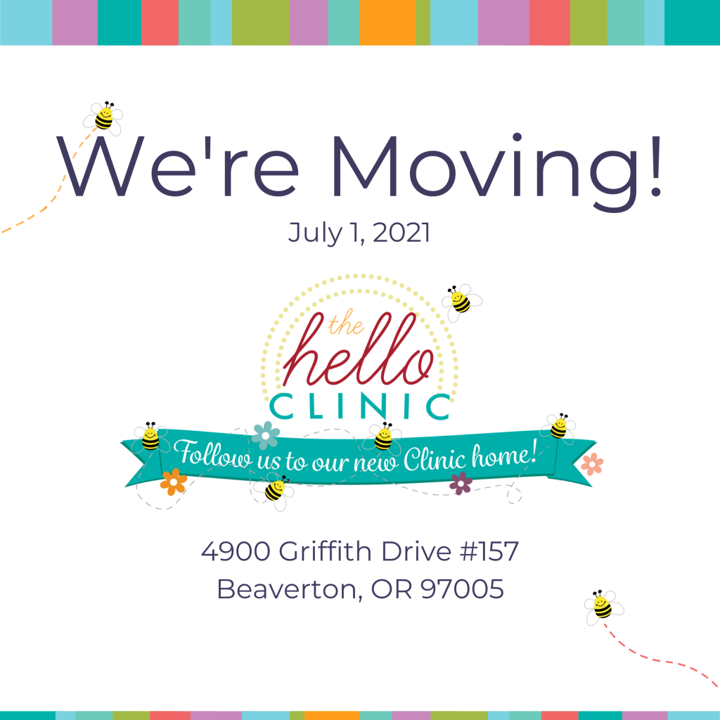 we're moving july 1, 2021 4900 sw griffith drive #157 Beaverton, oregon 97005