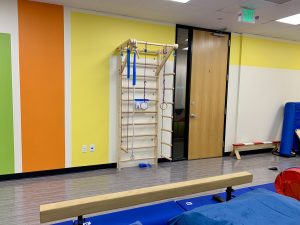 New climbing ladder in Occupational Therapy gym.