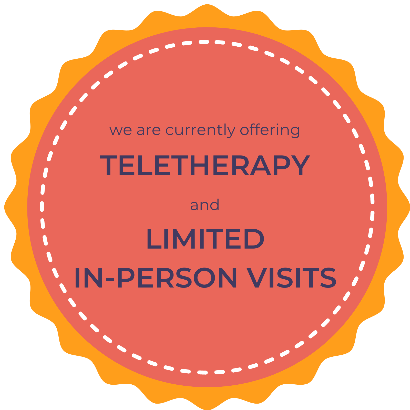 offering teletherapy and limited in-person visits