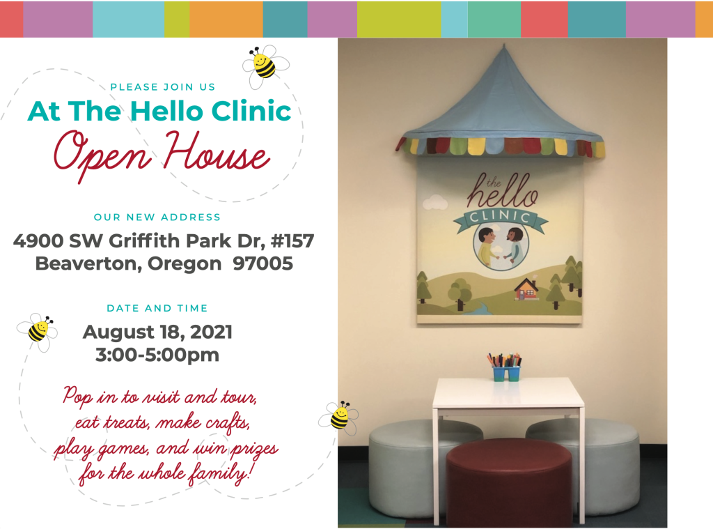 image of open house invitation and clinic interior